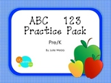 ABC 123 Practice Pack