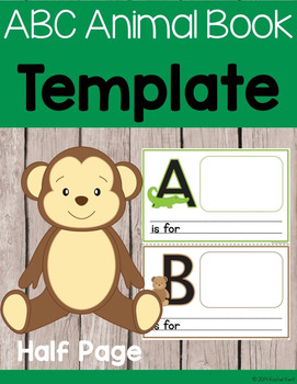 ABC Animal Book Template - Half Page