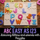 ABC, Easy as 123 - Letters and Sounds Puzzles