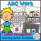 Letter Recognition! Race Car ABCs Literacy Center Activiti