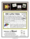 ABC Letter WEBS.  Creative Center Writing Activity for Beg