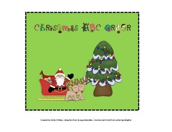 ABC Order Christmas Activity
