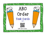 ABC Order Task Cards with QR Codes Set 1