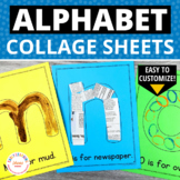 ABC Pages:  Editable Alphabet Pages for Preschool and Kind