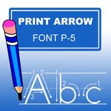 ABC Print Arrow Font