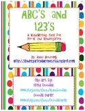 ABC's and 123's Handwriting Practice