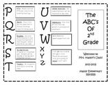 ABC's of 2nd Grade Parent Brochure
