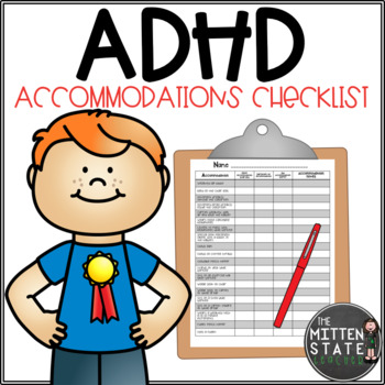 ADHD Accommodation Checklist for a General Education Class