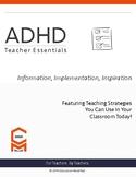ADHD- Teacher Essentials
