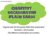 AIMSWEB: Quantity Discrimination Flash Cards