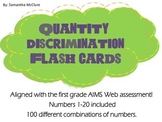AIMSWEB: Quantity Discrimination Flash Cards