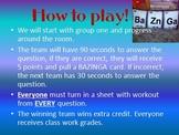 ALGEBRA & PRE-ALGEBRA Test Review Game & 3 Powerpoints (FUN!)