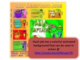 ANIMATED CLASSROOM JOBS POSTER FOR SMARTBOARD AND POWERPOINT