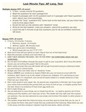 AP English Language: Last minute tip sheet