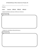 AP World History DBQ Graphic Organizer Bundle