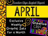 APRIL 2015 Graphics Club {Creative Clips Digital Clipart}