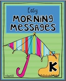 Morning Messages-Kindergarten-April