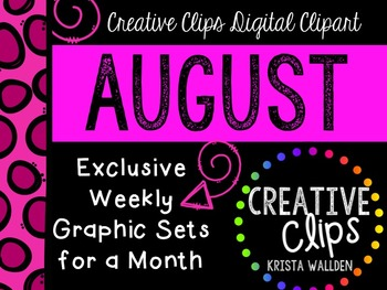 AUGUST 2015 Graphics Club {Creative Clips Digital Clipart}