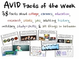AVID Facts of the Week (REVISED AND EXPANDED FOR 2015-2016)