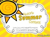 Absorb Summer Content: Homework for Kindergarten Graduates