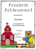Academic Achievement Award Certificate