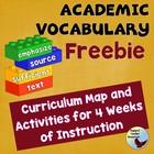 Vocabulary Academic Vocabulary Program Free Complete 4 Word Set