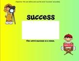 Academic Vocabulary SMART file Success (Treasures)