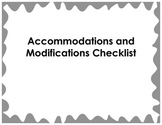 Accommodation and Modification Checklist