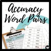 Accuracy Word Pairs: The COMPLETE Assessment & Practice Packet