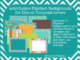 ActivInspire Backgrounds for Dots on Turquoise Lovers