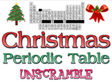 Activity: Christmas Periodic Table unscramble