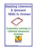 Activity Tasks to Teach Grammar & Literature Elements in Context