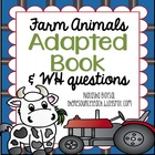 "Adapted Book ""Farm Animals"" with WH Questions (for special"