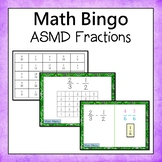 Fractions  Bingo (Add, Subtract, Multiply, and Divide)