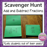 Fractions Scavenger Hunt (Adding With Unlike Denominators)
