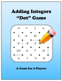 Adding Integers Dot Game