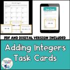 Adding Integers Matching Game