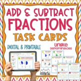 Adding & Subtracting Fractions Task Cards { Add & Subtract