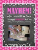 Adding, Subtracting, Multiplying and Dividing Integers Game
