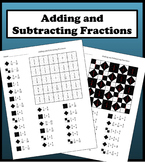 Adding and Subtracting Fractions Color Worksheet
