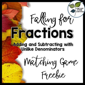 Adding and Subtracting Fractions {Fall Freebie}