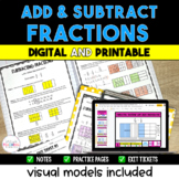 Adding and Subtracting Fractions packet - *Visual Models I