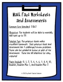 Addition Fact Practice Worksheets and Assessments