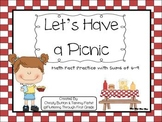 """Addition Math Facts Game- """"Let's Have a Picnic"""""""
