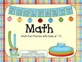 """Addition Math Facts Game- """"Pool Party"""""""