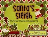 "Addition Math Facts Game- ""Santa's Sleigh"""