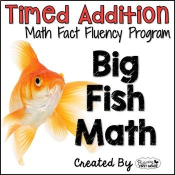"Addition Math Facts Timed Tests-""Big Fish Math"""