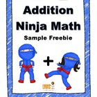 Addition Ninja Math: Fact Fluency Practice/Self Correcting
