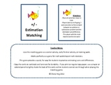 Addition & Subtraction Estimation Matching