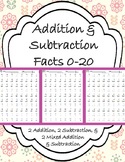 Addition & Subtraction Fluency Fact Drills (0-20)
